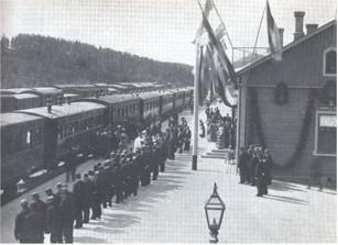 Tsaari Simolan asemalla 1890-luvulla